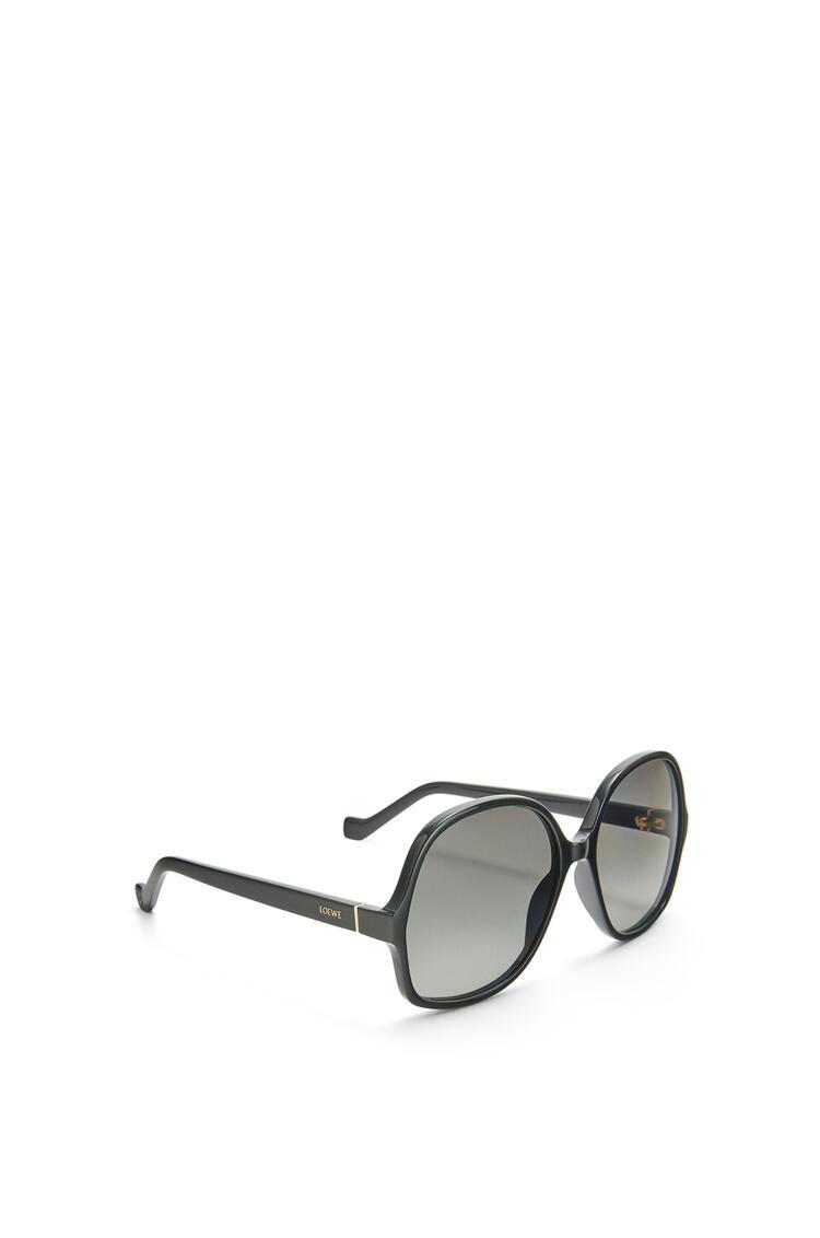 LOEWE Thin acetate oval sunglasses Shiny Black pdp_rd