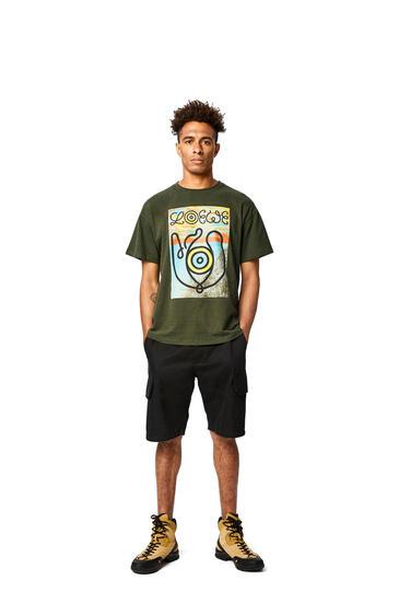 LOEWE T-shirt In Cotton Khaki Green pdp_rd
