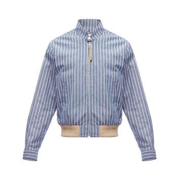 LOEWE Stripe Blouson ecru/navy blue front