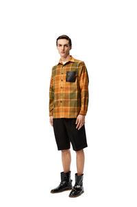 LOEWE Overshirt in check wool Green/Orange pdp_rd