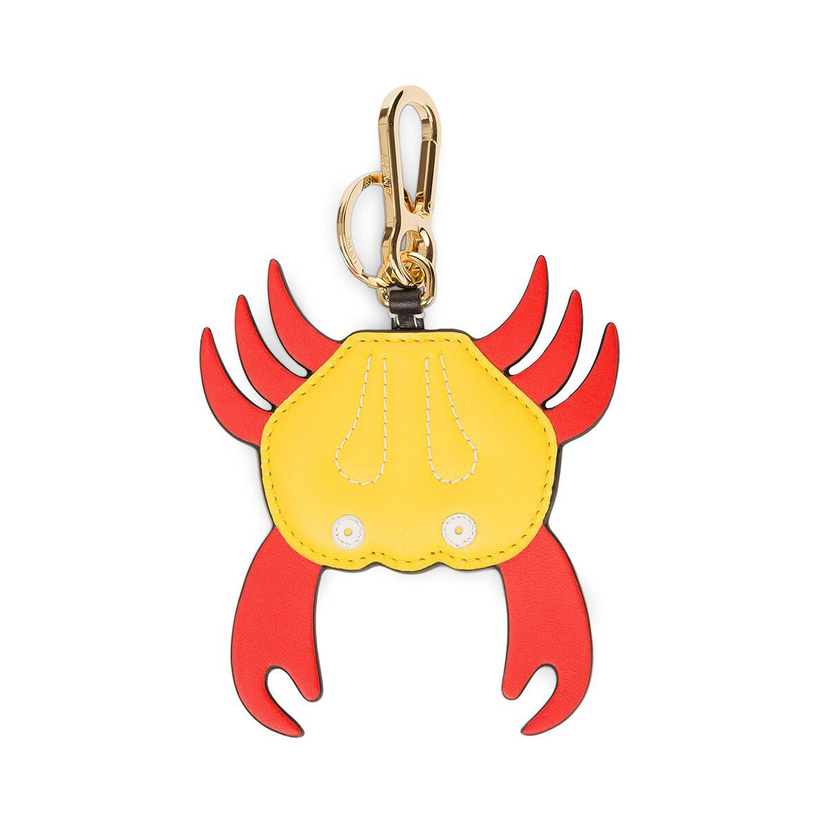 LOEWE Crab Charm Red/Yellow front