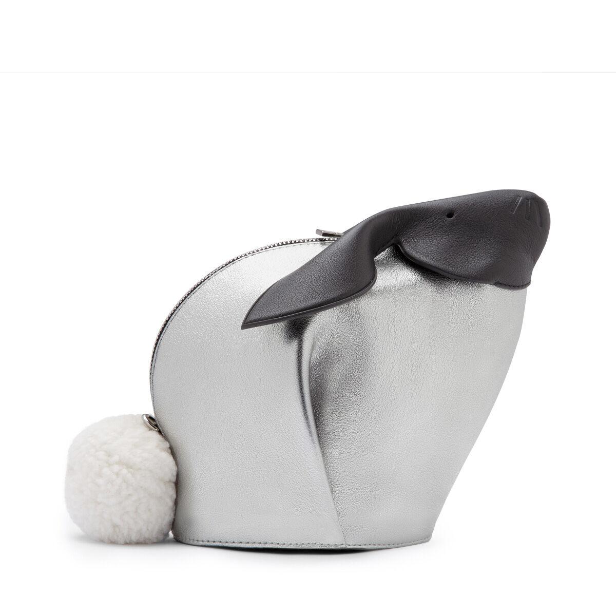 LOEWE バニーバイカラーミニバッグ White/Silver all