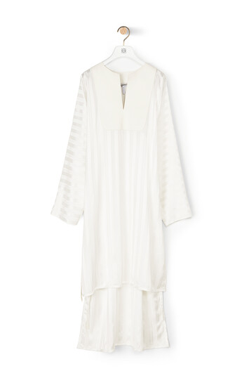 LOEWE Stripe Jacquard Tunic Dress White front