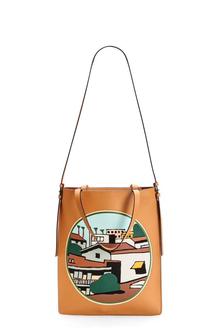LOEWE Bolso tote Vertical L.A. Series en piel de ternera Ambar/Multicolor pdp_rd