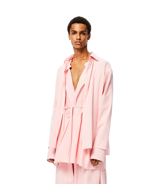 LOEWE Double Layer Shirts Rosa Bebe front
