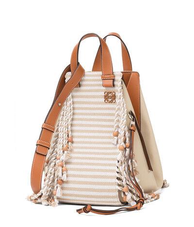 LOEWE Hammock Paula Scarf Medium Bag Natural/Tan front