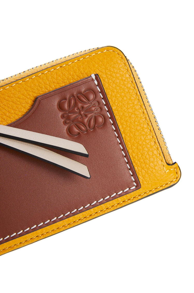 LOEWE Coin cardholder in soft grained calfskin Narcisus Yellow/Pecan pdp_rd