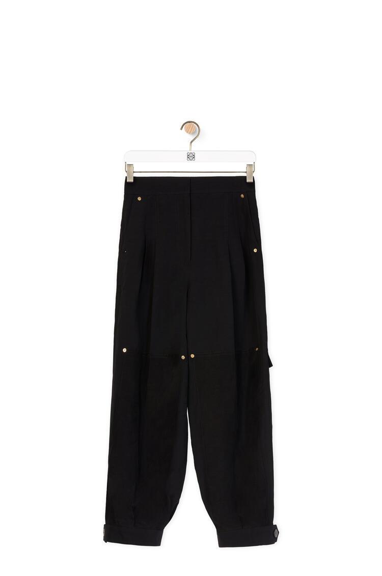 LOEWE Balloon trousers in linen Black pdp_rd