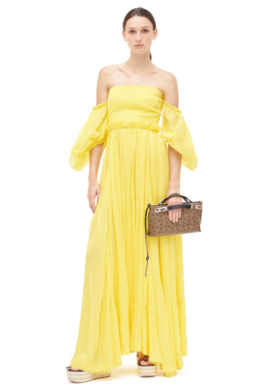 LOEWE Off Shoulder Ball Gown Amarillo front
