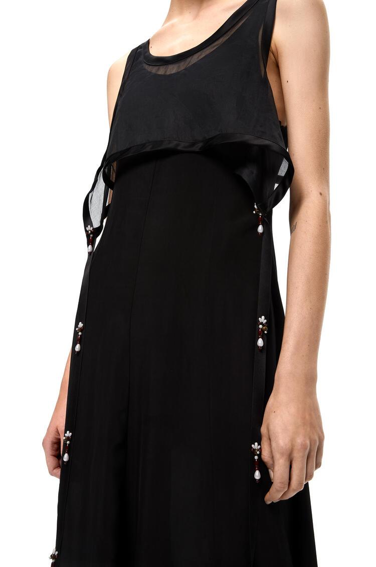 LOEWE Tank dress with pearls in viscose Black pdp_rd