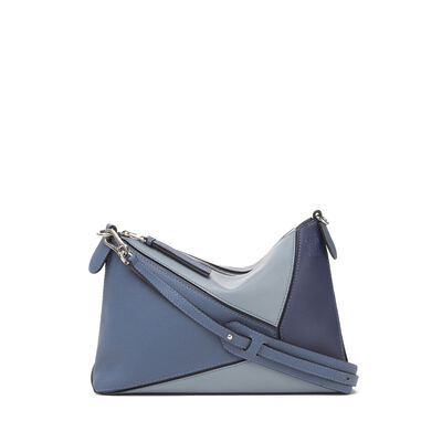LOEWE Bolso Puzzle Pochette Azul Varsity Multitono front