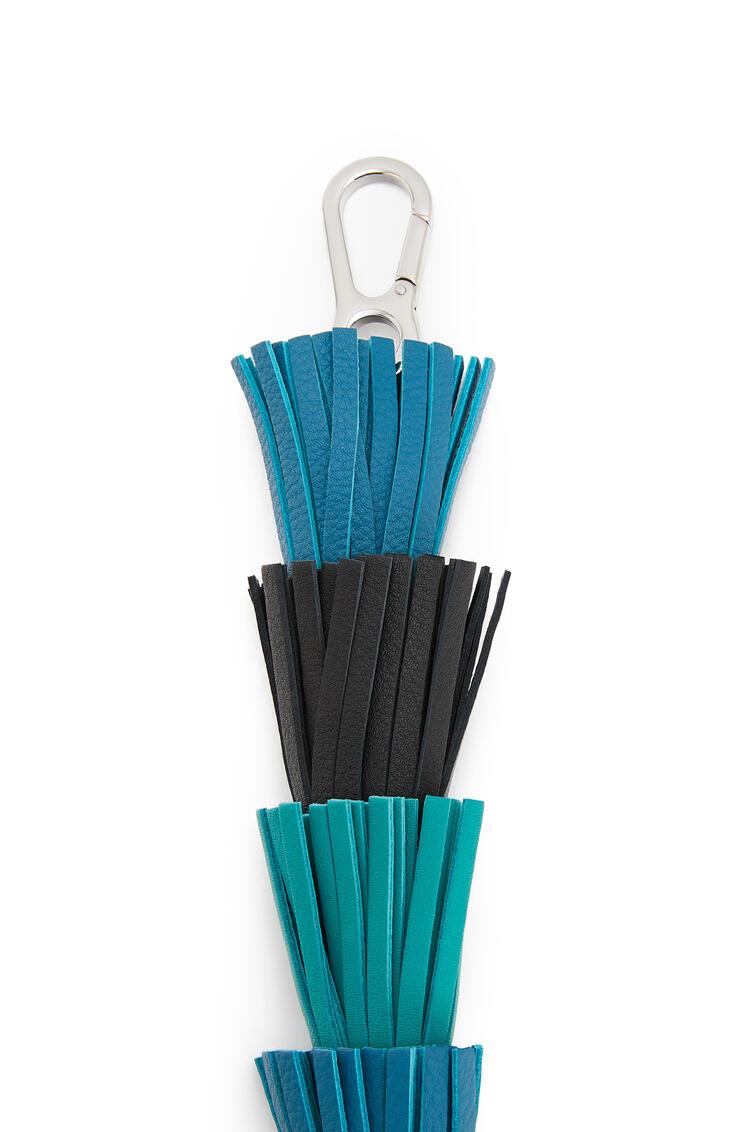 LOEWE Bandolera en piel de ternera clásica con borlas Azul Laguna Oscuro/Esmeralda pdp_rd