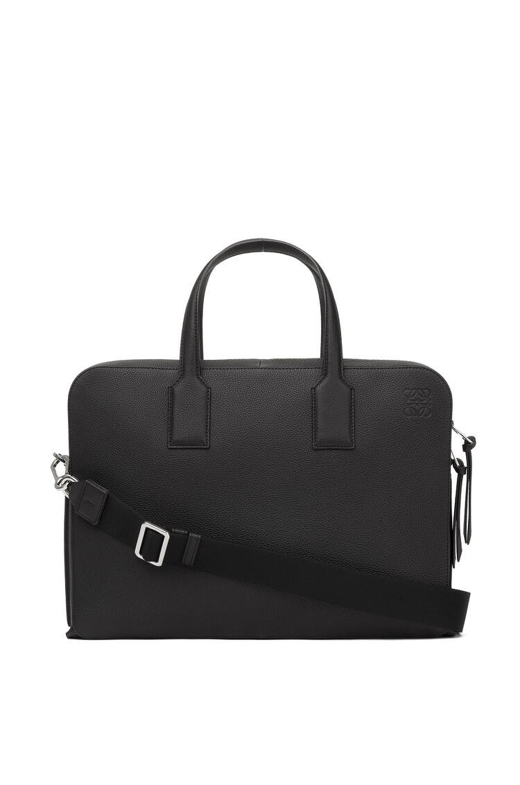LOEWE Goya thin briefcase in soft grained calfskin Black pdp_rd