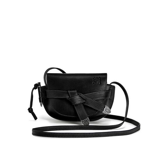 LOEWE Gate Western Mini Bag Black front