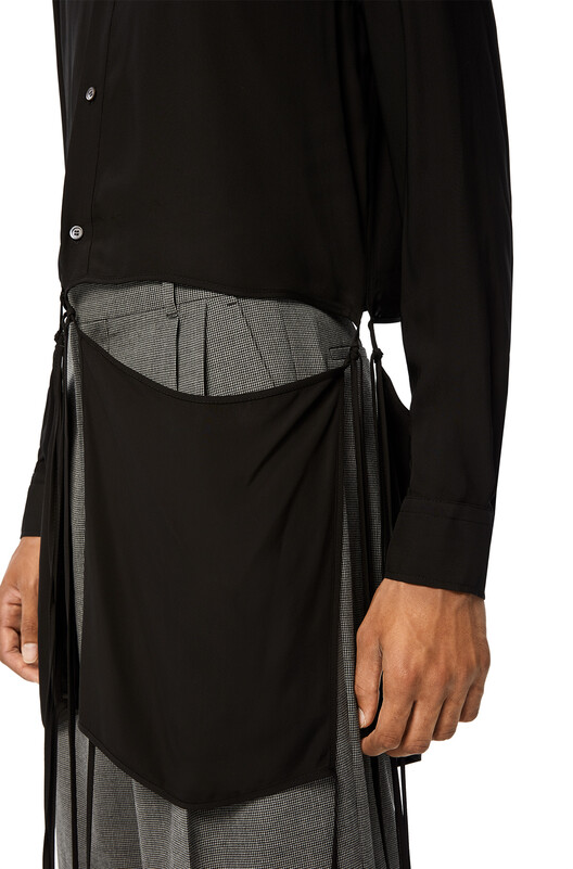 LOEWE Cut Off Shirt Negro front
