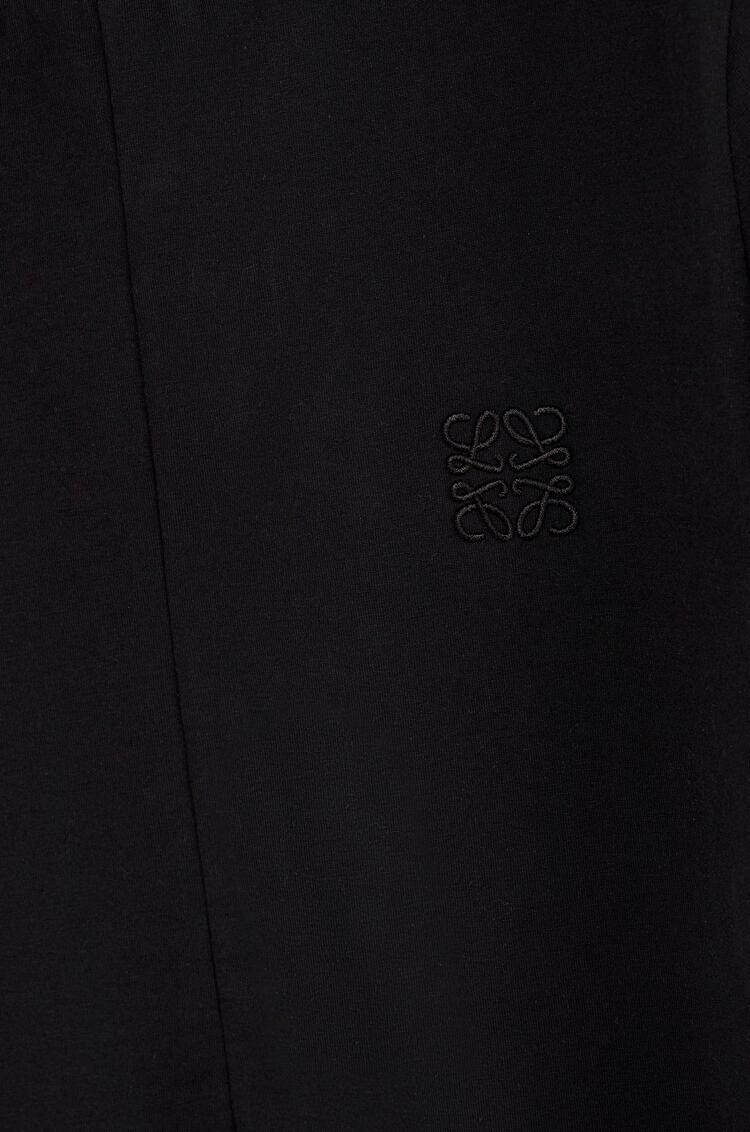 LOEWE 棉质Anagram刺绣不对称衬衫 黑色 pdp_rd