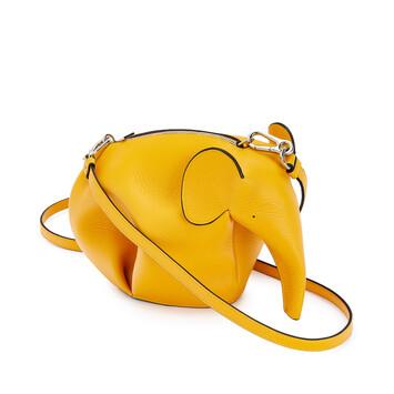 LOEWE Elephant Mini Bag Yellow Mango front