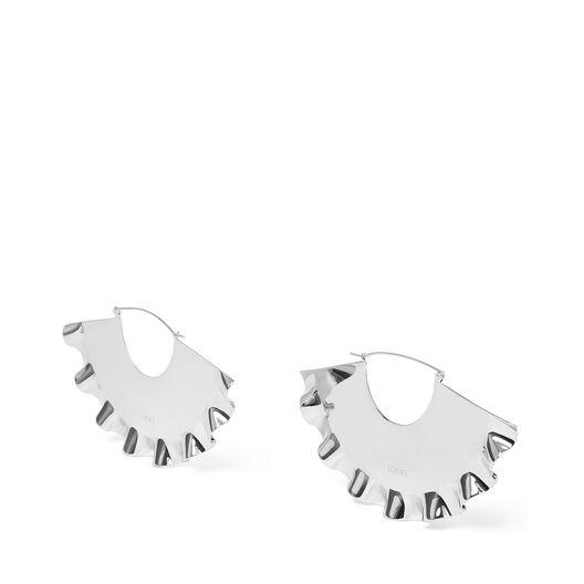 LOEWE Frills Earrings 金属灰 all