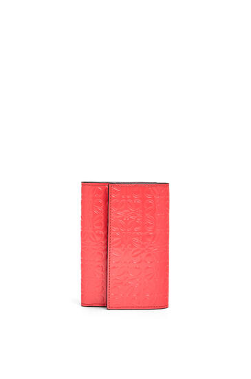 LOEWE Cartera vertical pequeña en piel de ternera Rosa Amapola pdp_rd