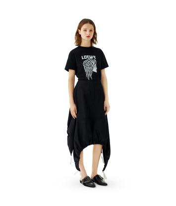 LOEWE Nylon Drawstring Skirt Black front