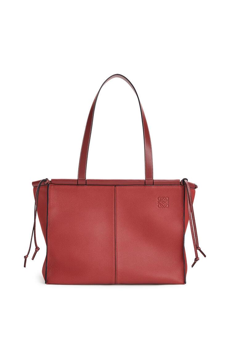 LOEWE Small Cushion Tote bag in soft grained calfskin Garnet pdp_rd