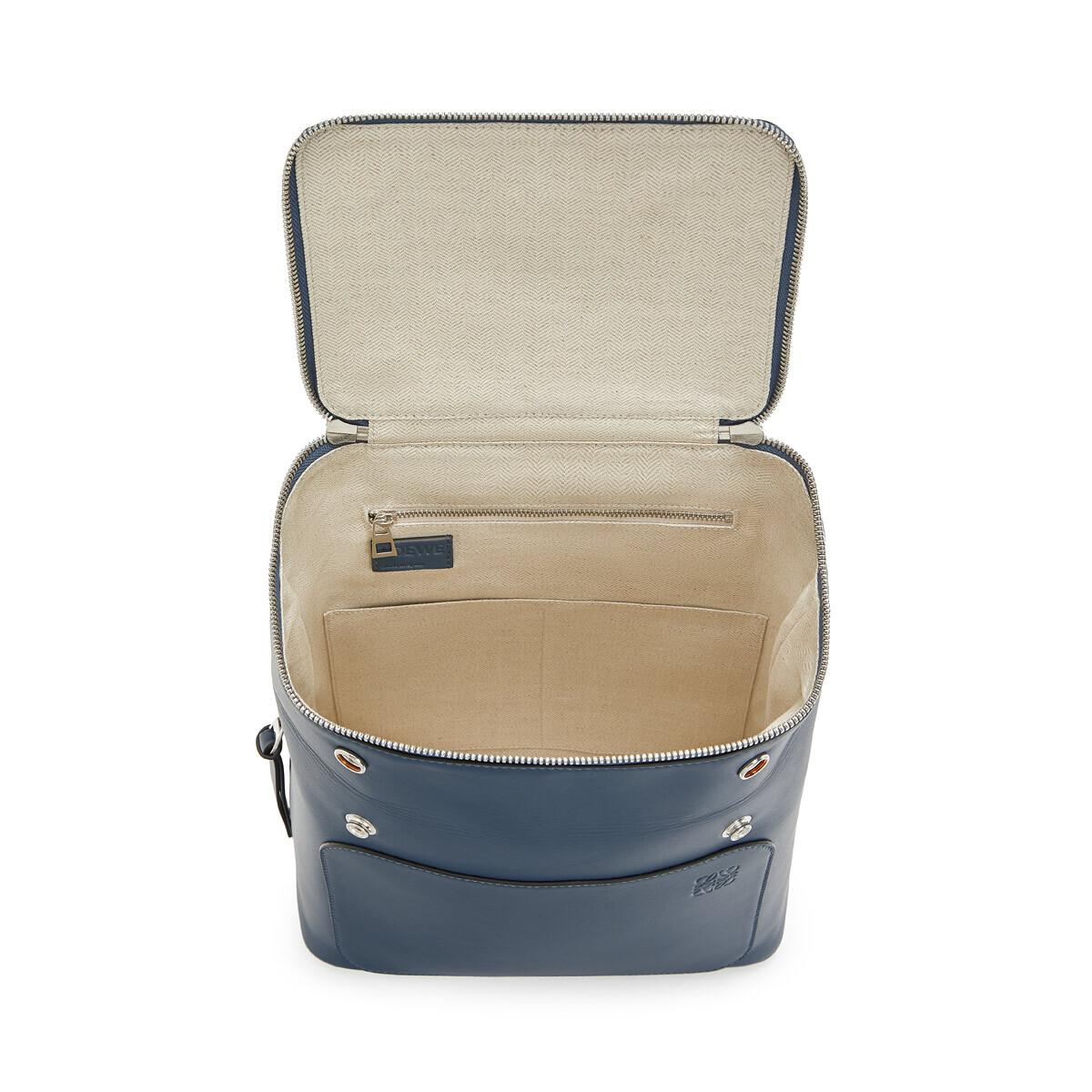 LOEWE Goya Small Backpack Steel Blue front