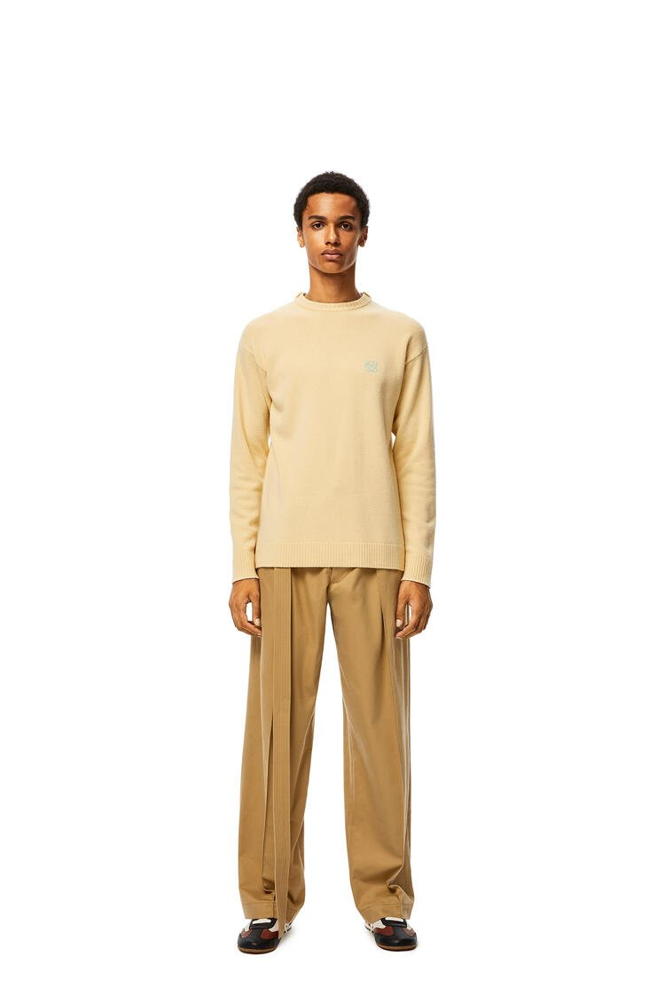 LOEWE Belted Trousers In Cotton Beige pdp_rd