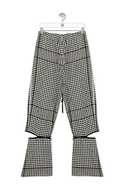 LOEWE Cut Off Trouser Negro/Blanco front