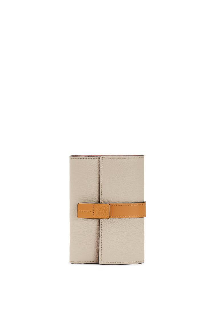 LOEWE Small Vertical Wallet In Soft Grained Calfskin Light Oat/Honey pdp_rd