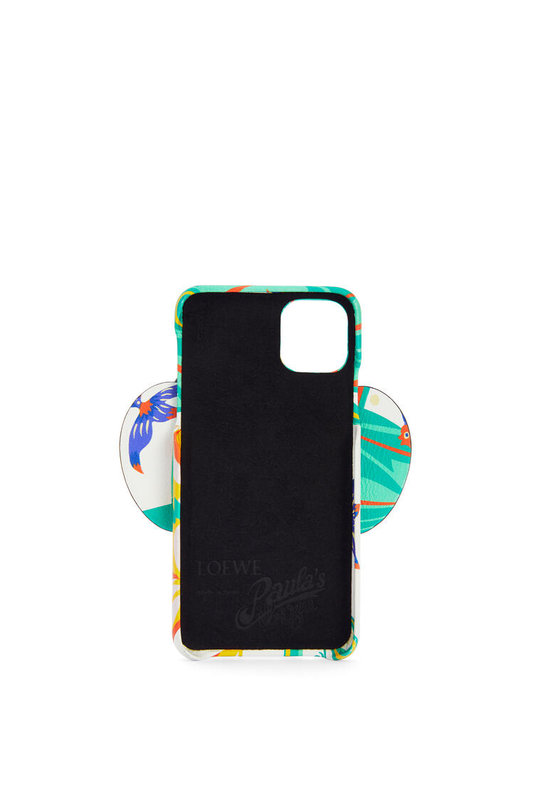 LOEWE Elephant Cover For Iphone 11promax Cover In Waterlily Classic Calfksin White pdp_rd
