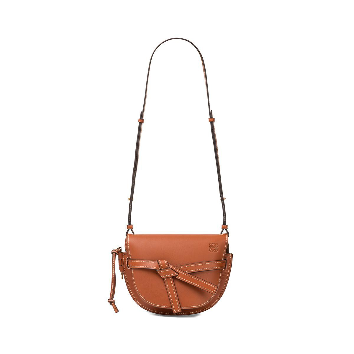 LOEWE Gate Small Bag Rust Color front