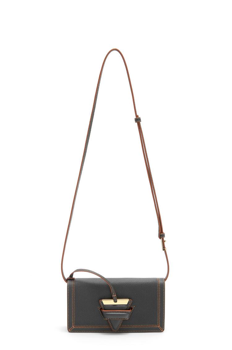 LOEWE Mini Barcelona soft bag in soft grained calfskin Black pdp_rd