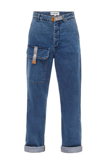 LOEWE Cargo Jeans 靛蓝色 front