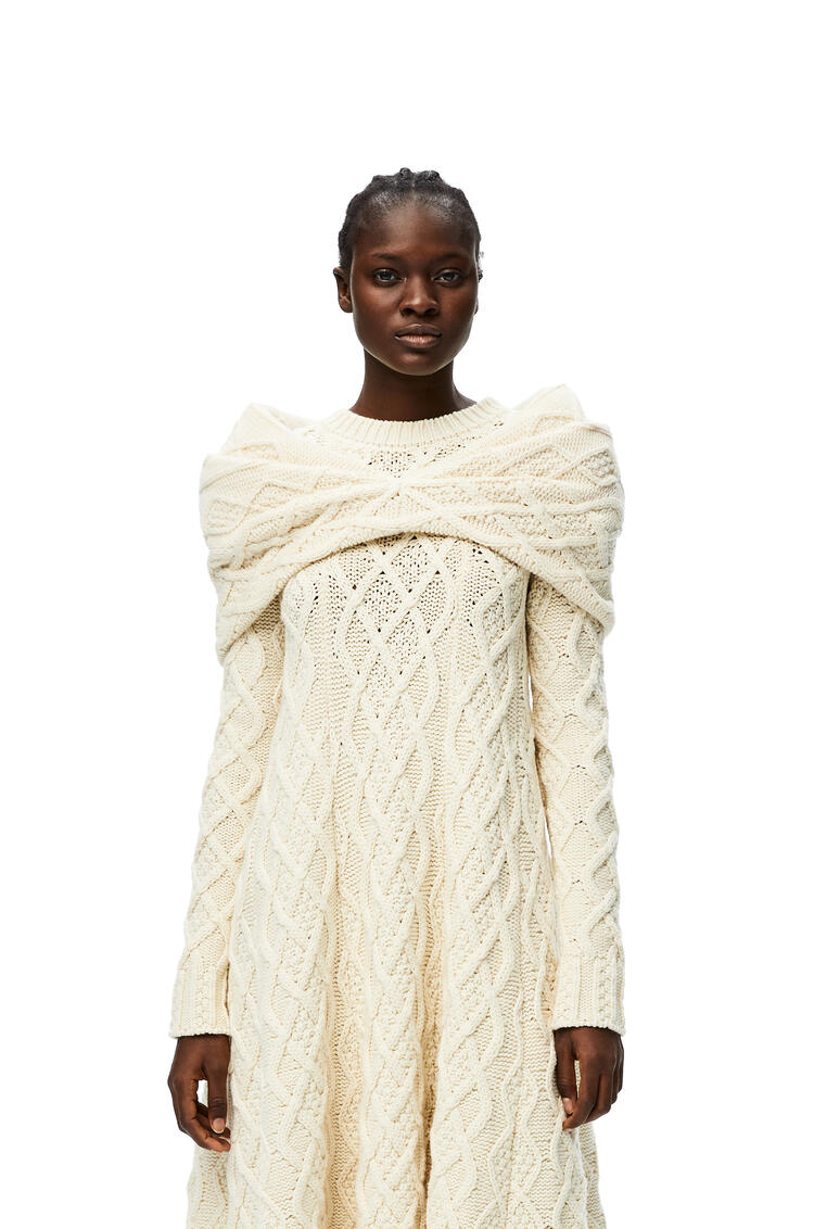 LOEWE Cable knit bolero in cashmere Off-white pdp_rd