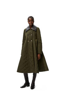 LOEWE Flare quilted coat in polyamide Forest Green pdp_rd