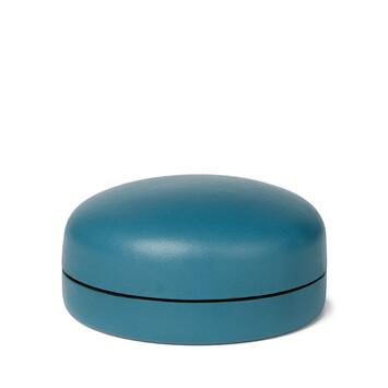LOEWE Box Medium Petroleum Blue front