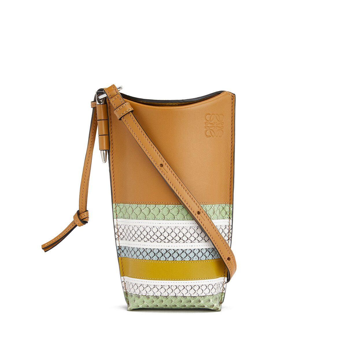 LOEWE Gate Pocket Marine Honey/Multicolor front