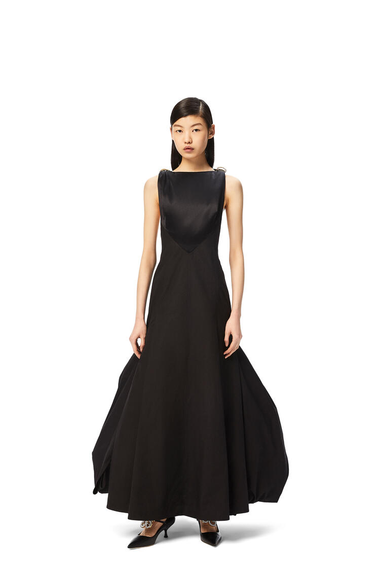 LOEWE D-ring dress in cotton and silk Black pdp_rd