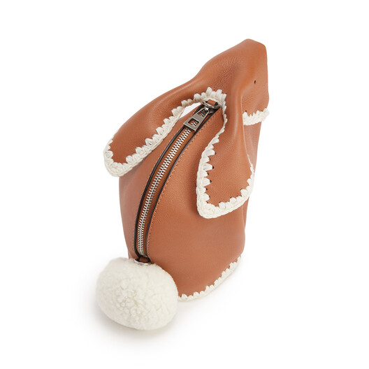 LOEWE Bunny Crochet Bag Tan front