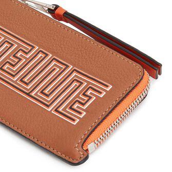 LOEWE メイズコイン/カードホルダー Tan/Orange front