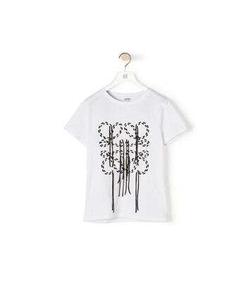 LOEWE Anagram Stitch T-Shirt Ecru front