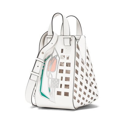 LOEWE Hammock Tulip Medium Bag White front