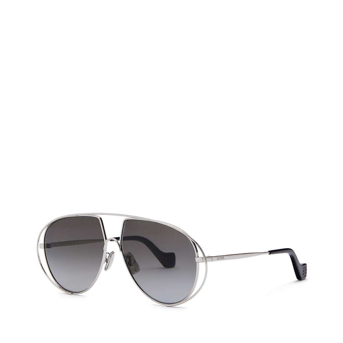 LOEWE Metal Pilot Sunglasses Anthracite front