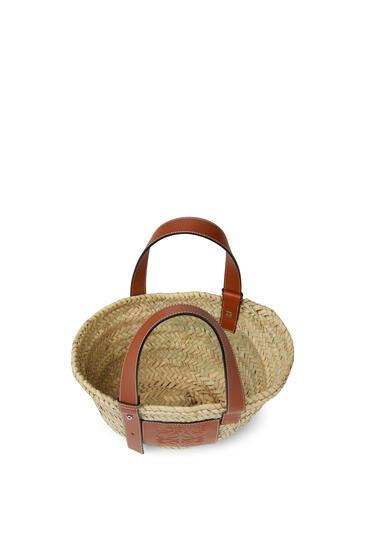 LOEWE 小号棕榈叶和小牛皮 Basket 手袋 原色/棕褐色 pdp_rd