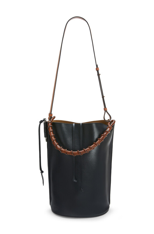 LOEWE Gate Bucket Large Bag Black front