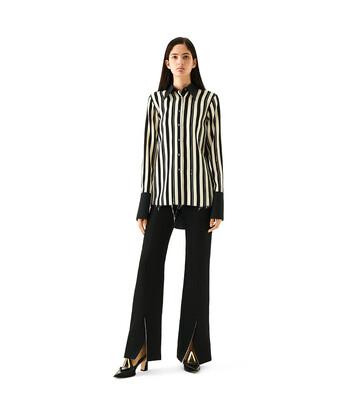 LOEWE Stripe Shirt Black/Off-White front