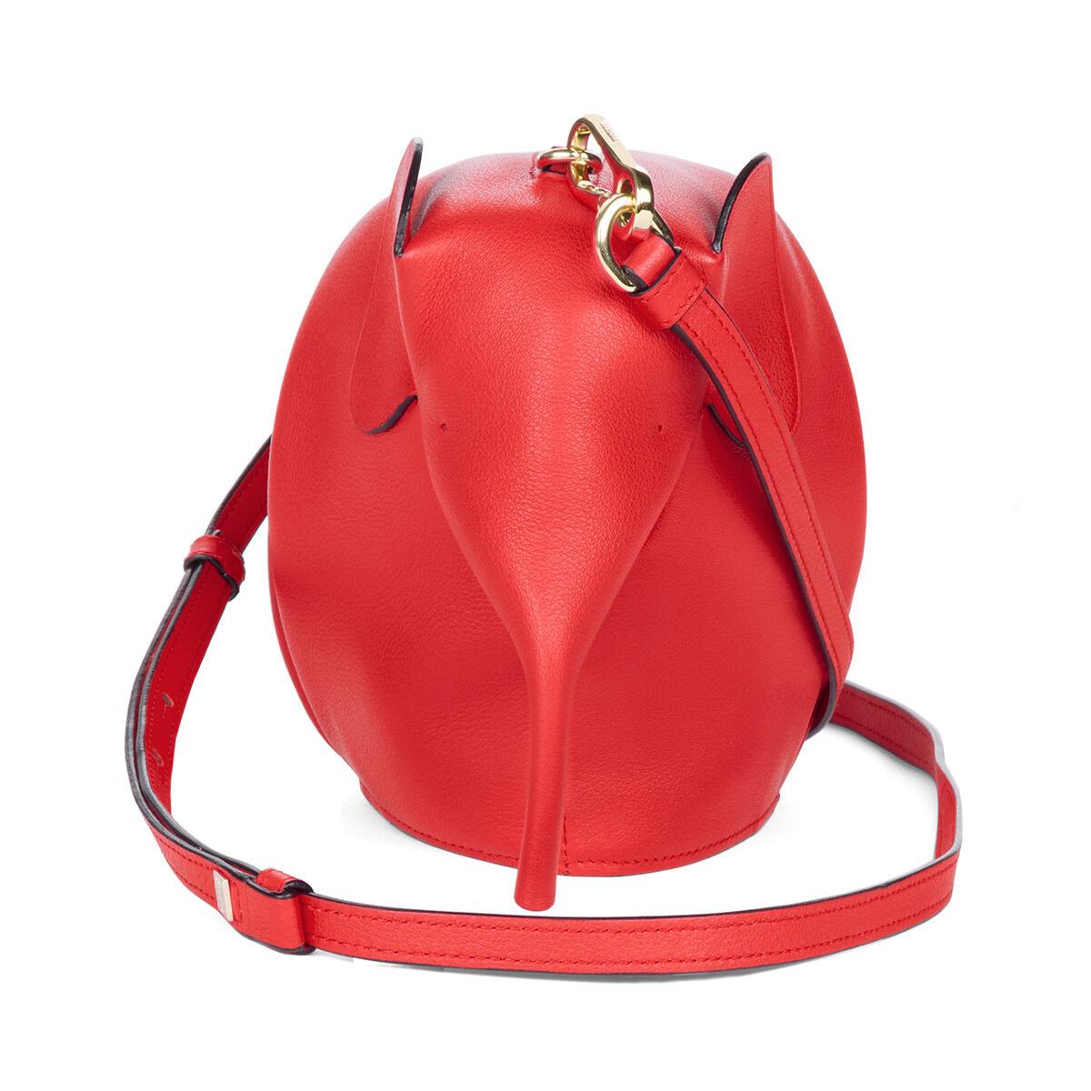 LOEWE Mini Bolso Elefante Rojo all
