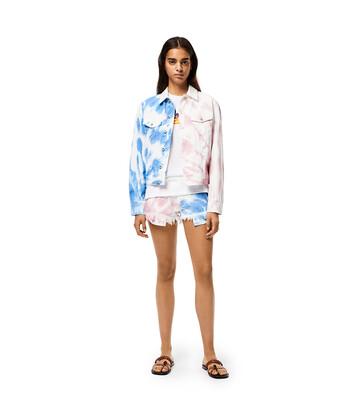 LOEWE Shorts In Tie Dye Cotton 蓝色/粉色 front