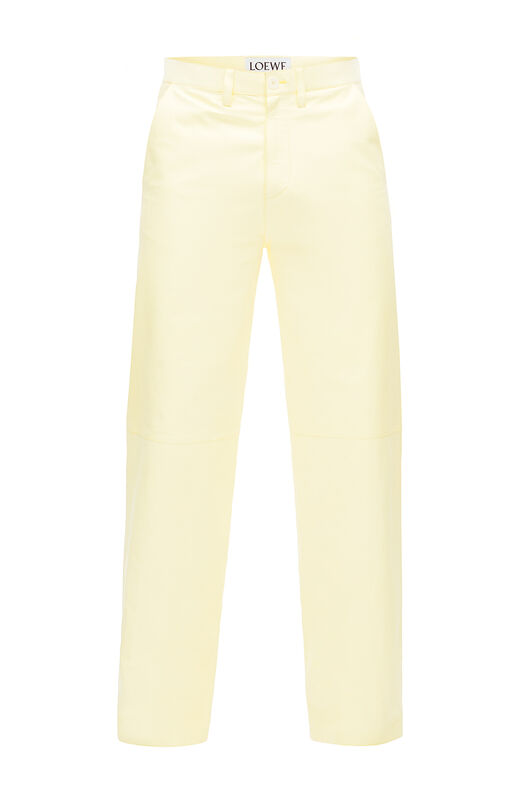LOEWE Flap Pocket Trousers Yellow front
