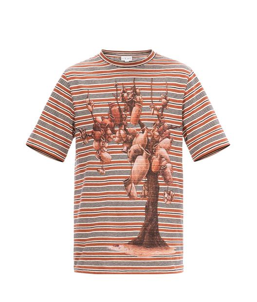 LOEWE Potery Tree T.Shirt Teja/Blanco Natural/Negro all